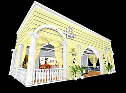 丽湾域展厅展览模型