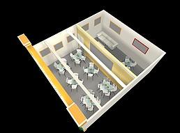 家元素展厅展览模型