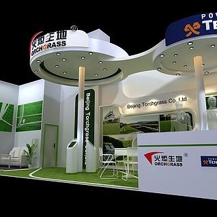 火炬升地展厅3d模型
