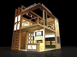 红酒展厅展览模型