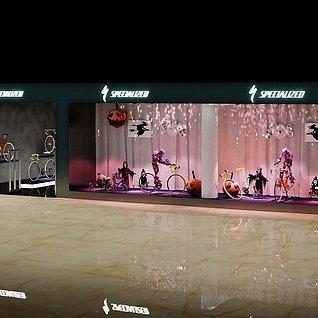 山地车万圣节橱窗3d模型