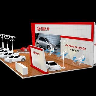 起亚汽车展厅3d模型