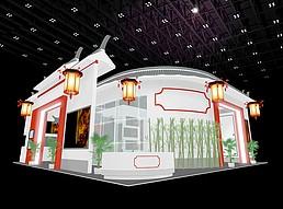 中国风展厅展览模型