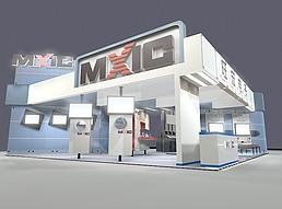 电子科技展展览模型