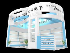 广西新未来电子展厅展览模型