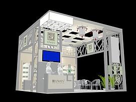 中药护肤展厅展览模型