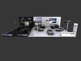 现代车展展览模型