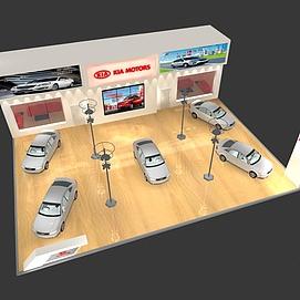 起亚汽车展览模型