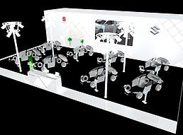 长安巡展展览模型
