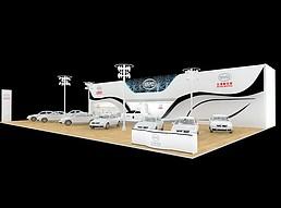 比亚迪车展展览模型