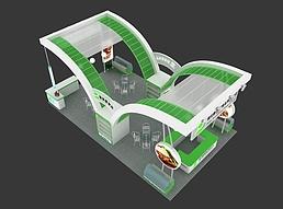 四开食品展展览模型