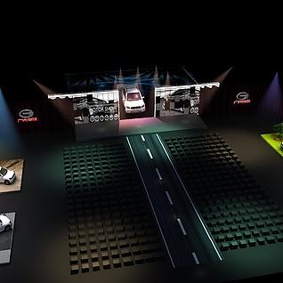 汽车展览3d模型