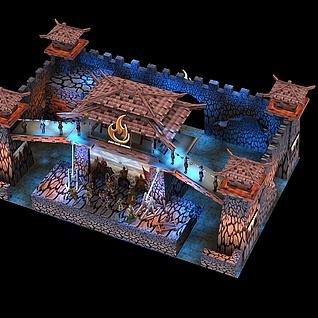 游戏展展位设计方案3d模型
