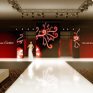 卡迪亞亞洲新品珠寶發布會展覽模型