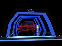 汽车展台效果图展览模型