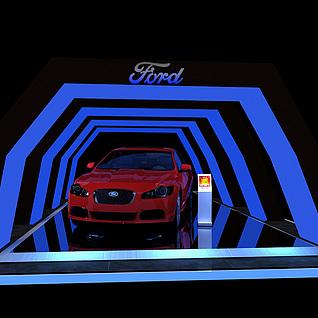 汽车展台效果图3d模型