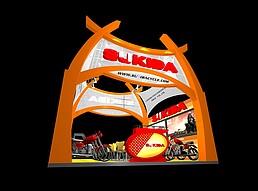 摩托车展厅展览模型