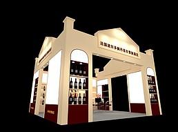 法国红酒展览模型