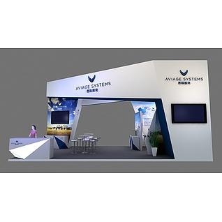 昂际航电展览模型