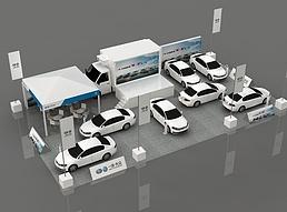 一汽大众小篷车巡展展览模型