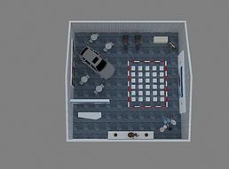 汽车主题活动篷房规划展览模型