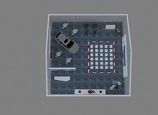 汽车主题活动篷房规划3d模型