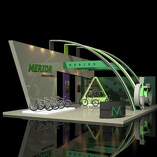美利达自行车展场3d模型