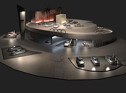 奥迪汽车展场展览模型