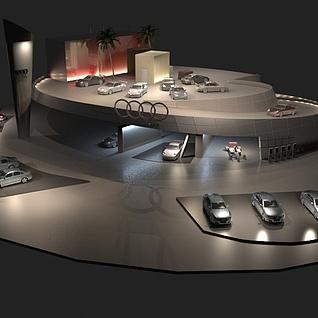 奥迪汽车展场3d模型
