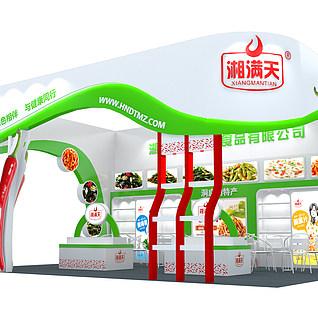 榨菜食品展位3d模型