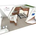 现代商务红酒展台3d模型