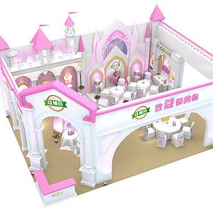 欧式城堡<font class='myIsRed'>婚礼</font>主题展位展览模型