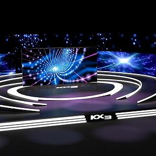 汽车发布会舞台3d模型