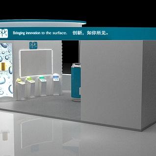 涂料包装展台3d模型
