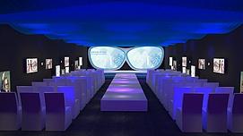 眼镜发布会舞台展览模型