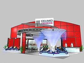 千里马电动车展览模型