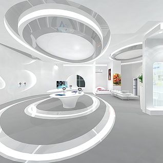 展厅设计3d模型