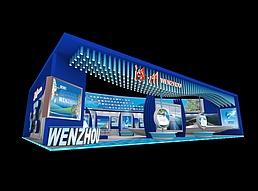 16X25温州展区展览模型