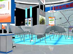 13X10南充展台物流站展展览模型