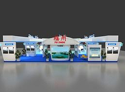 21X15航空基地展位展览模型