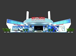 24X40青海东海展位展览模型
