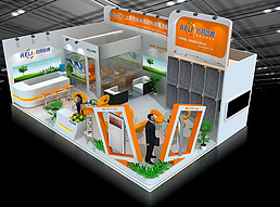 6x9热材料有限公司展览模型