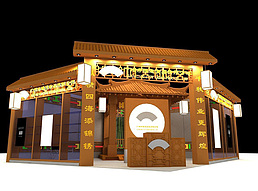 7X8中国传统古典展展览模型