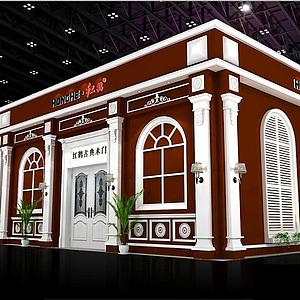 9X18紅鶴木業展覽模型