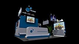 游戏展展览模型