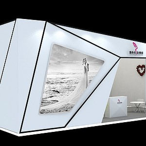 6x10婚紗攝影3d模型