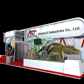 国外展展览模型