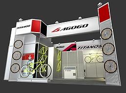 自行车展展览模型