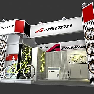 自行车展3d模型