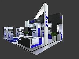 电脑科技展展览模型